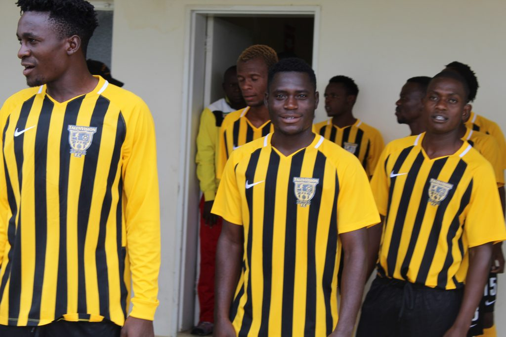 FC TalenVision players before 3-1 win over Makomo FC at Luveve